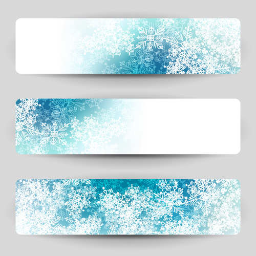 Snowflakes background banner vector