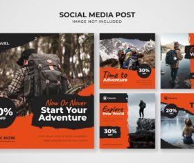 Social media post vector
