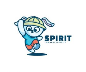 Spirit towards infinity cartoon vector