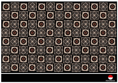 Square and round ethnic style pattern background vector