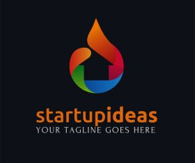 Startup ideas creative logo design vector