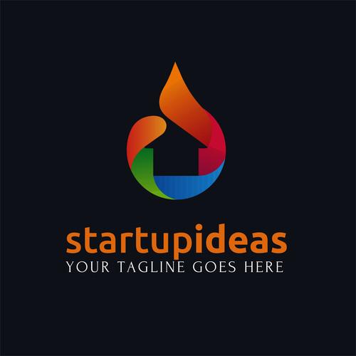 Startup ideas creative logo design vector