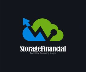 Storage financial concept logo design vector