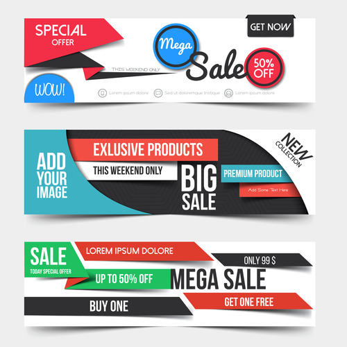Store promotion banner vector
