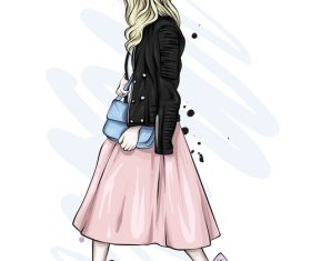 Street fashion clothing vector