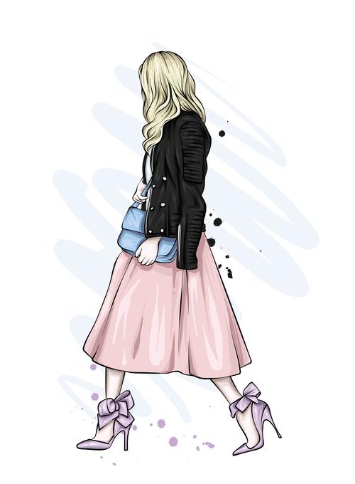 Street fashion clothing vector