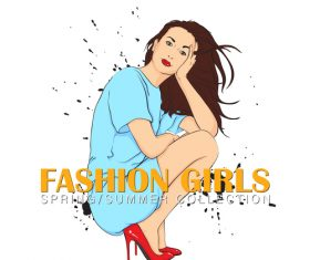 Summer fashion women vector