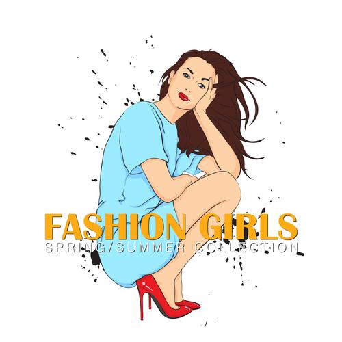 Summer fashion women vector