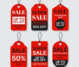 Super sale flat label design vector