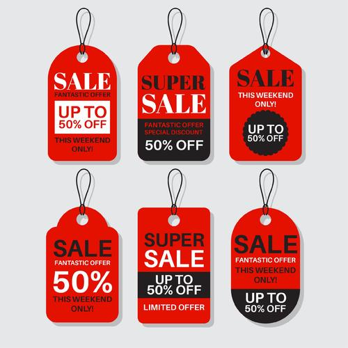 Super sale flat label design vector