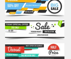Supermarket promotion banner vector