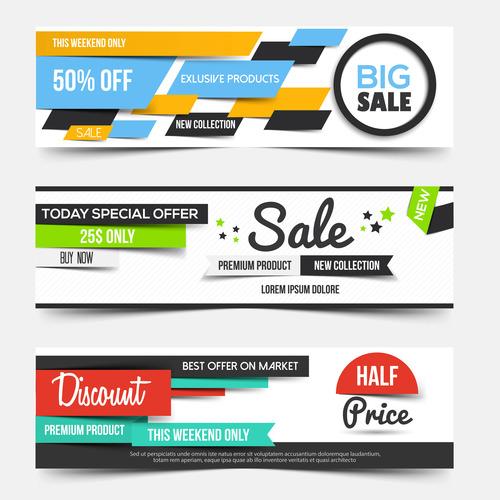 Supermarket promotion banner vector