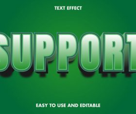Support 3d text style effect vector