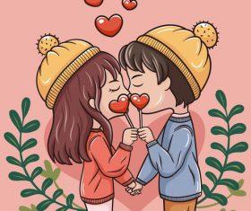 Sweet valentine vector
