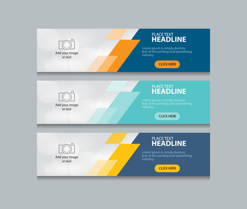 Template abstract banner vector