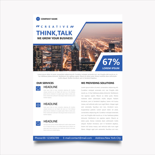 Template realistic business vector