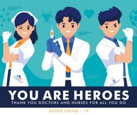 Thanking medical staff vector