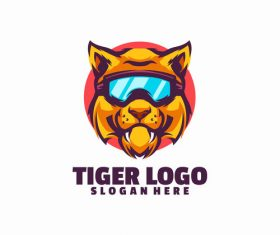 Tiger smile logo vector