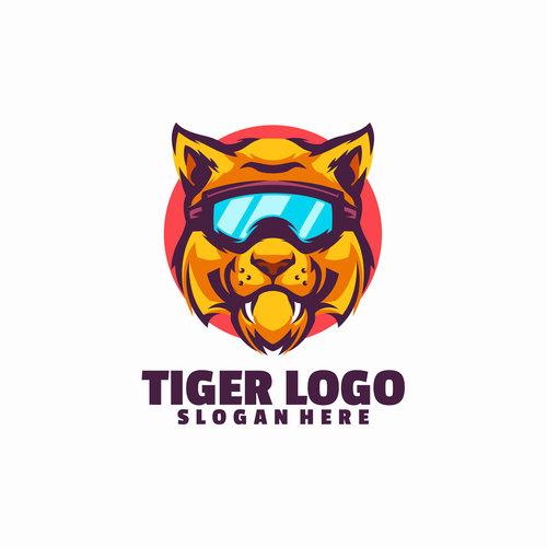 Tiger smile logo vector