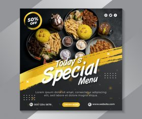 Today's special menu flyer vector