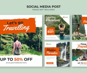 Travel agency leaflet vector