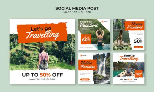 Travel agency leaflet vector