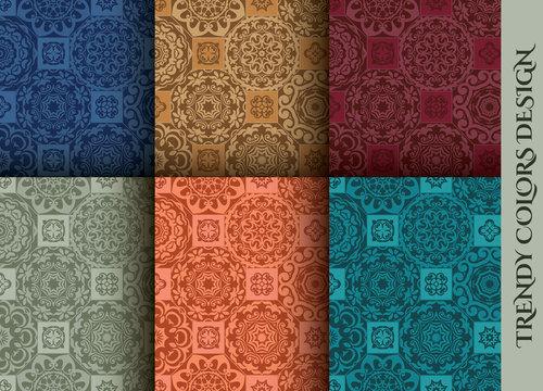 Trendy colors design vector
