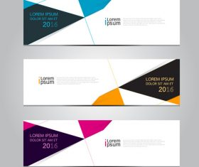 Triangle graphic banner vector
