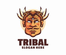 Tribal angry logo vector