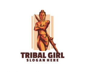 Tribal girl logo vector