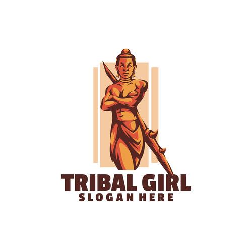 Tribal girl logo vector