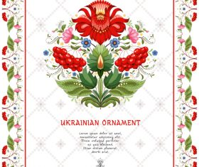 Ukrainian custom ornament pattern vector