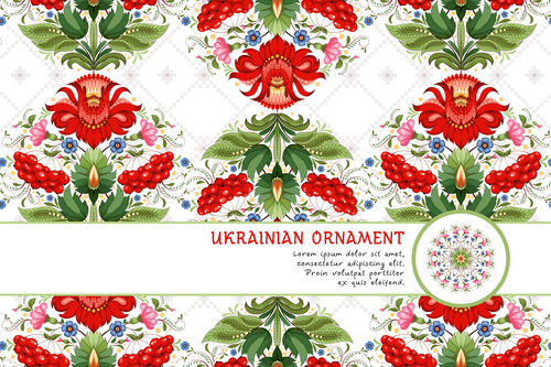 Ukrainian national customs pattern vector