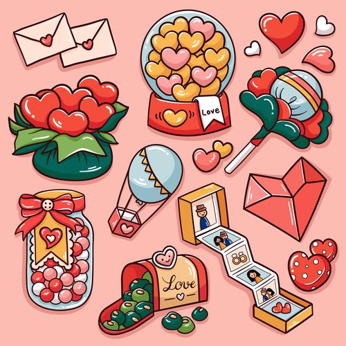 Valentine candy vector