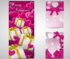 Valentines day badges and labels in vector