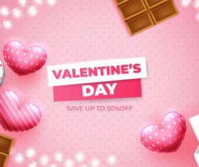 Valentines day element background vector