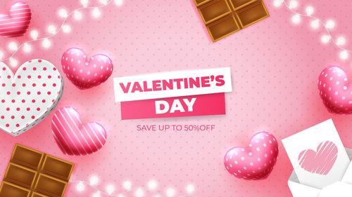 Valentines day element background vector