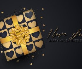 Valentines day gift package vector
