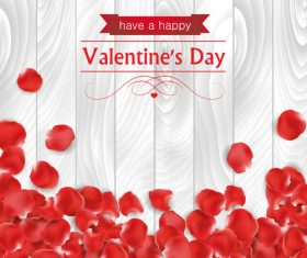 Valentine's day petals background vector