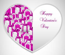 Valentines day sale label design vector