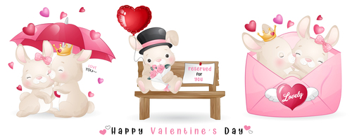 Valentines day theme greeting card vector