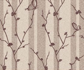 Vector background with butterflies on flowering branches