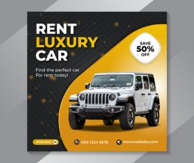 Vehicle rental flyer vector