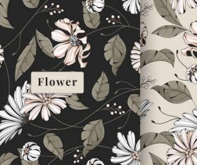 Vintage daisy seamless pattern vector