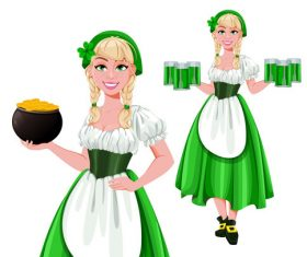 Waitress cartoon vector