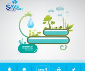 Water conservation information vector
