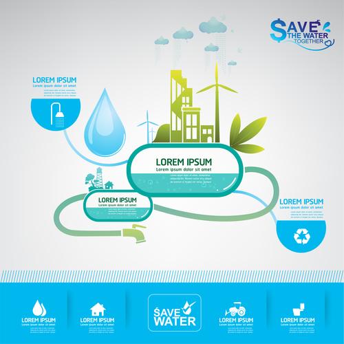 Water resources information vector