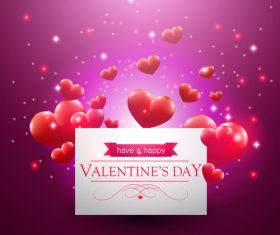 White cardboard and heart shaped background vector