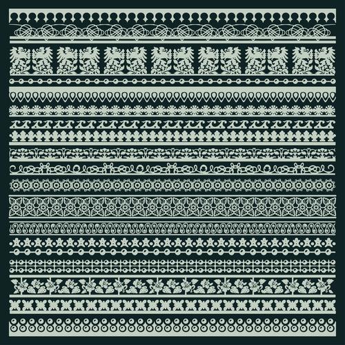 White silhouette decorative pattern vector