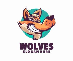 Wolves logo vector
